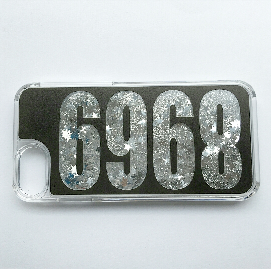 受注発注:number glitter smart phone case