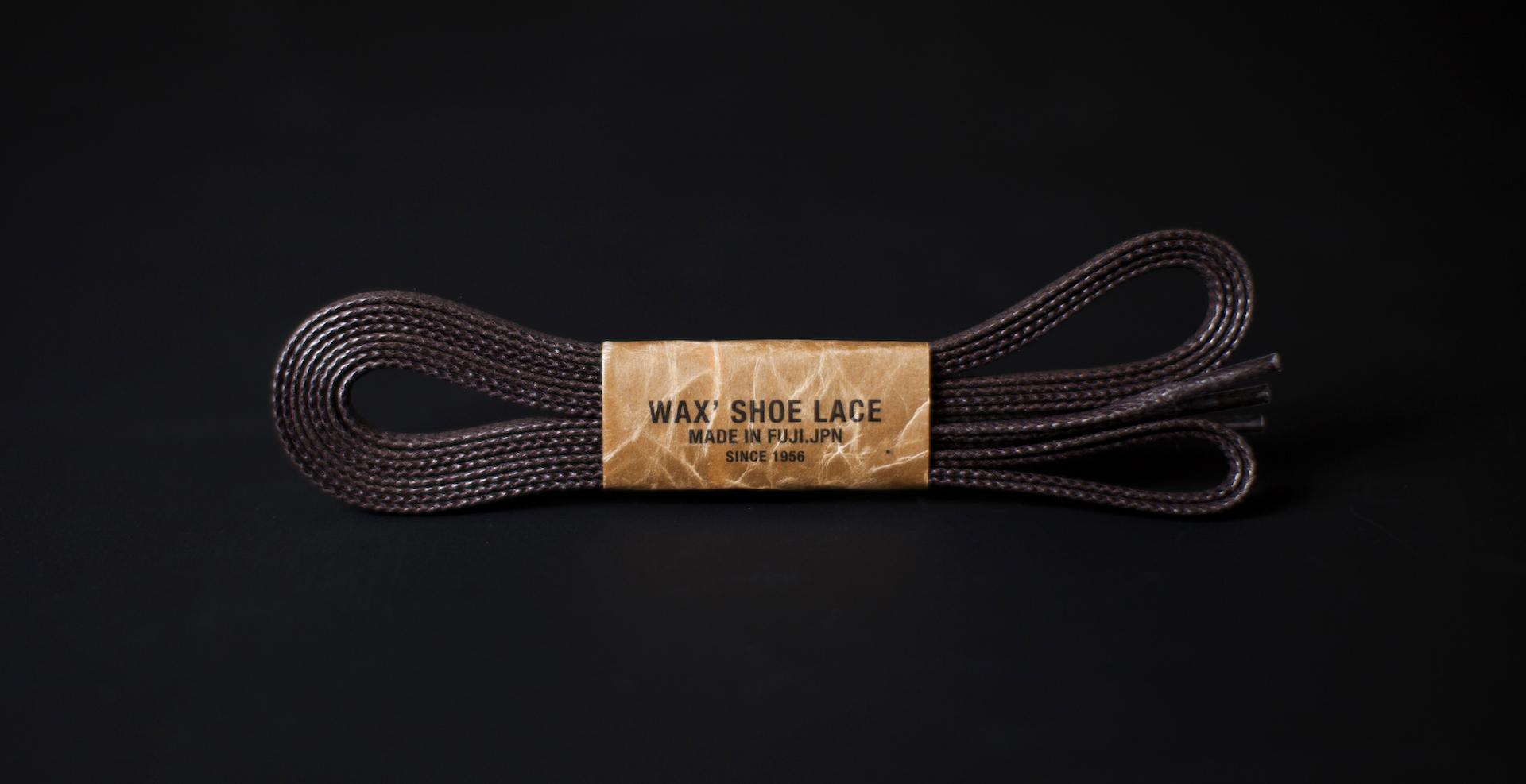 150cm WAX' SHOE LACE / DARK BROWN