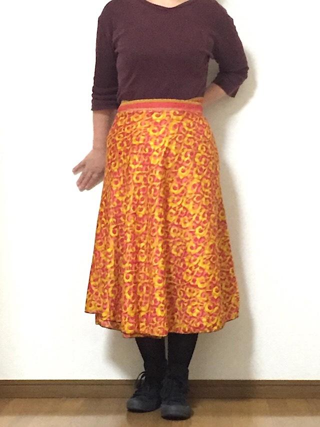 dss-047【新価格】 シルクサリー巻きスカート ショート