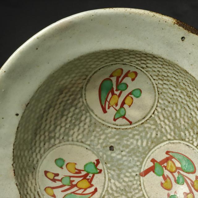 島岡達三 作 象嵌赤繪鉢