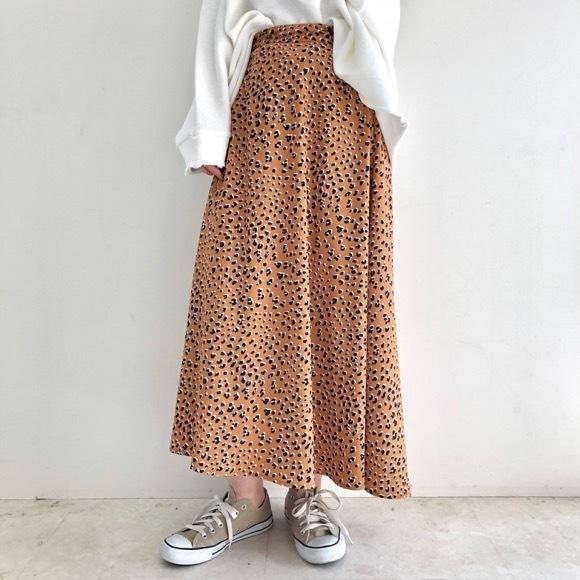 【QTUME】レオパードスカート