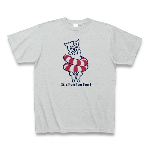 【キャラT】あるぱかイズムのTシャツ-グレー