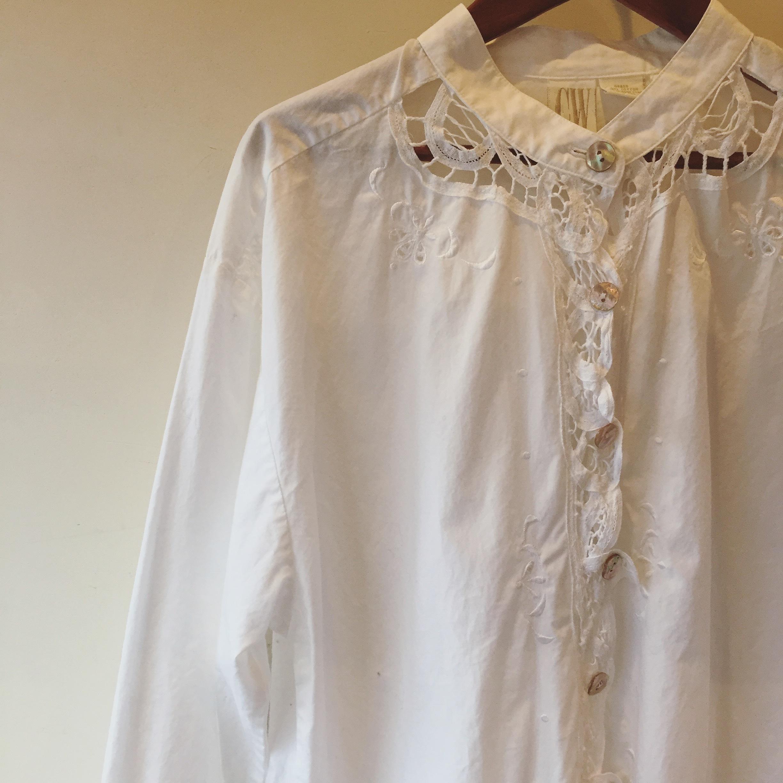 vintage lace cotton tops