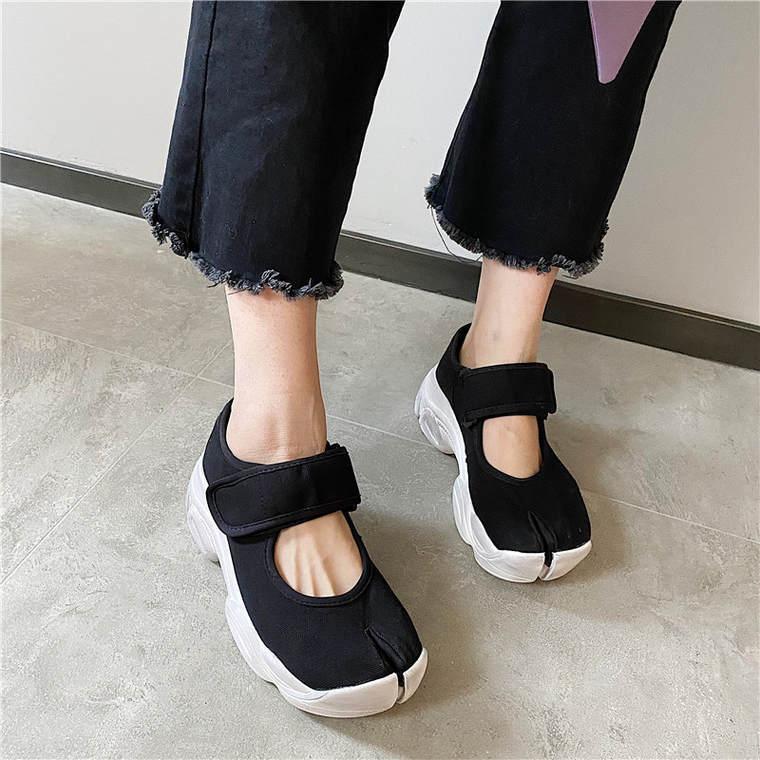 【送料無料】足元映え ♡ カジュアル 大人可愛い トレンド 足袋 厚底 スポーツ サンダル スニーカー シューズ 靴