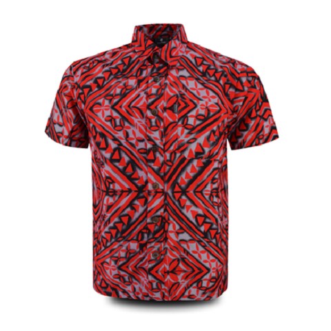 Aloha Shirt 2019 Red × Black【Size:L】