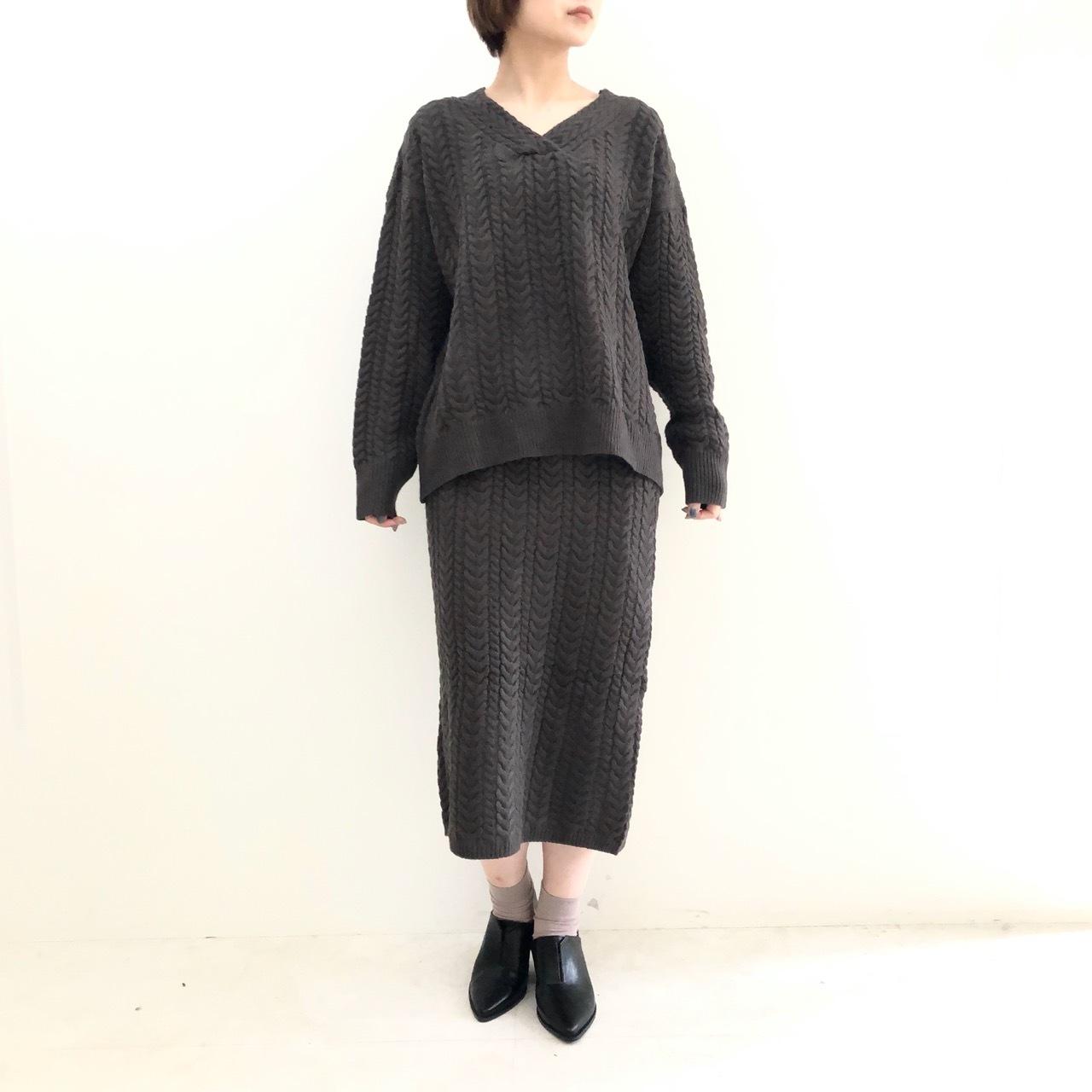 【 ROSIEE 】- 182713 - ケーブル編みセットアップ
