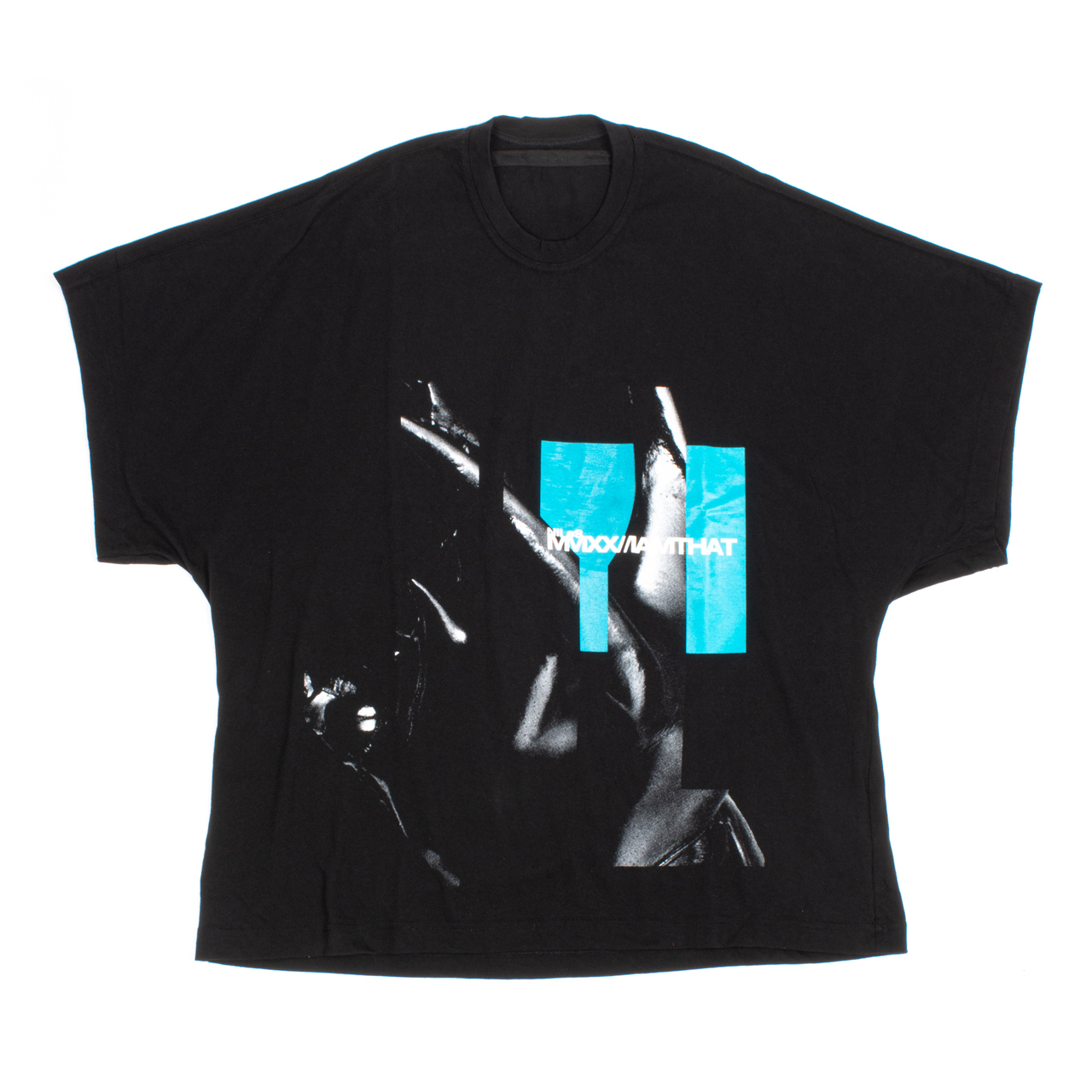 720CPM4-BLACK / プリント カイト Tシャツ