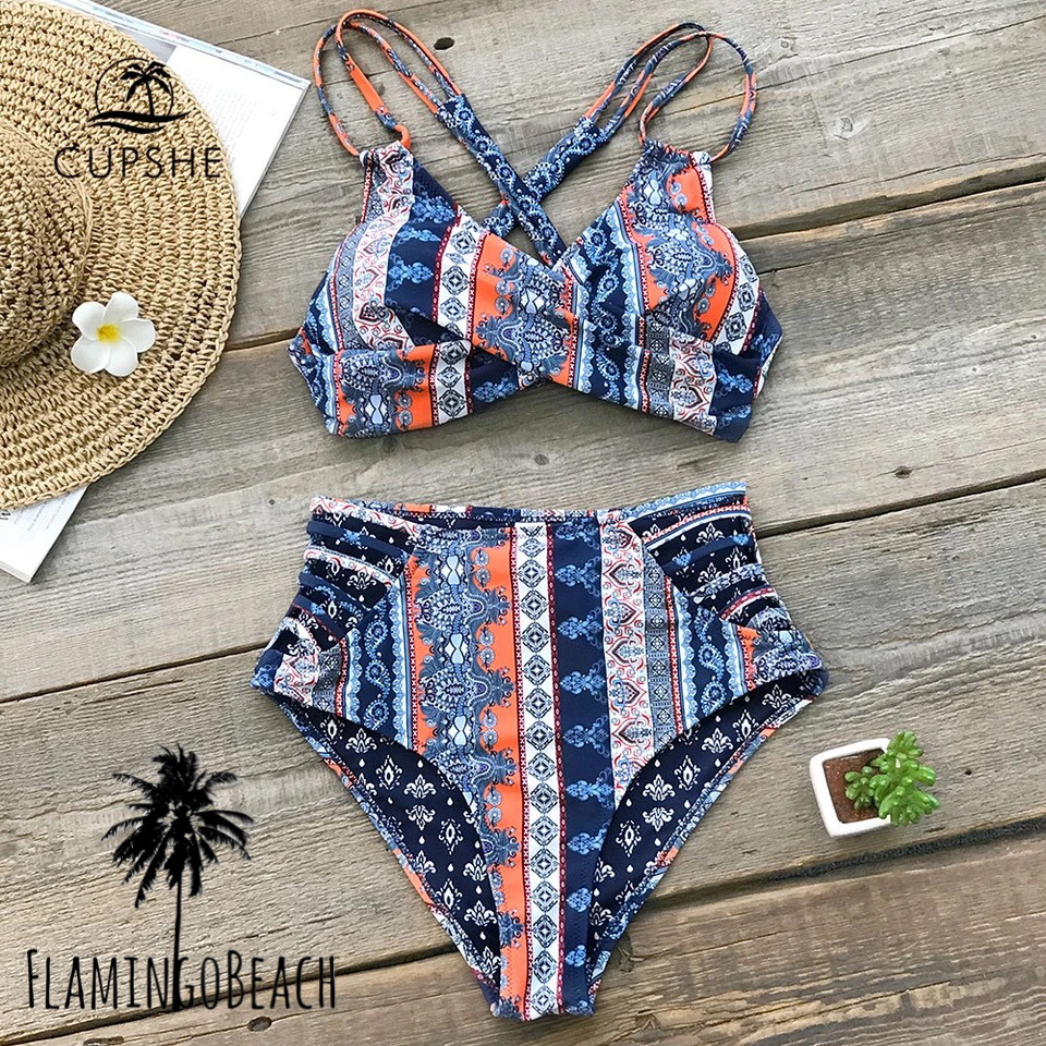 【FlamingoBeach】boho high west bikini ビキニ