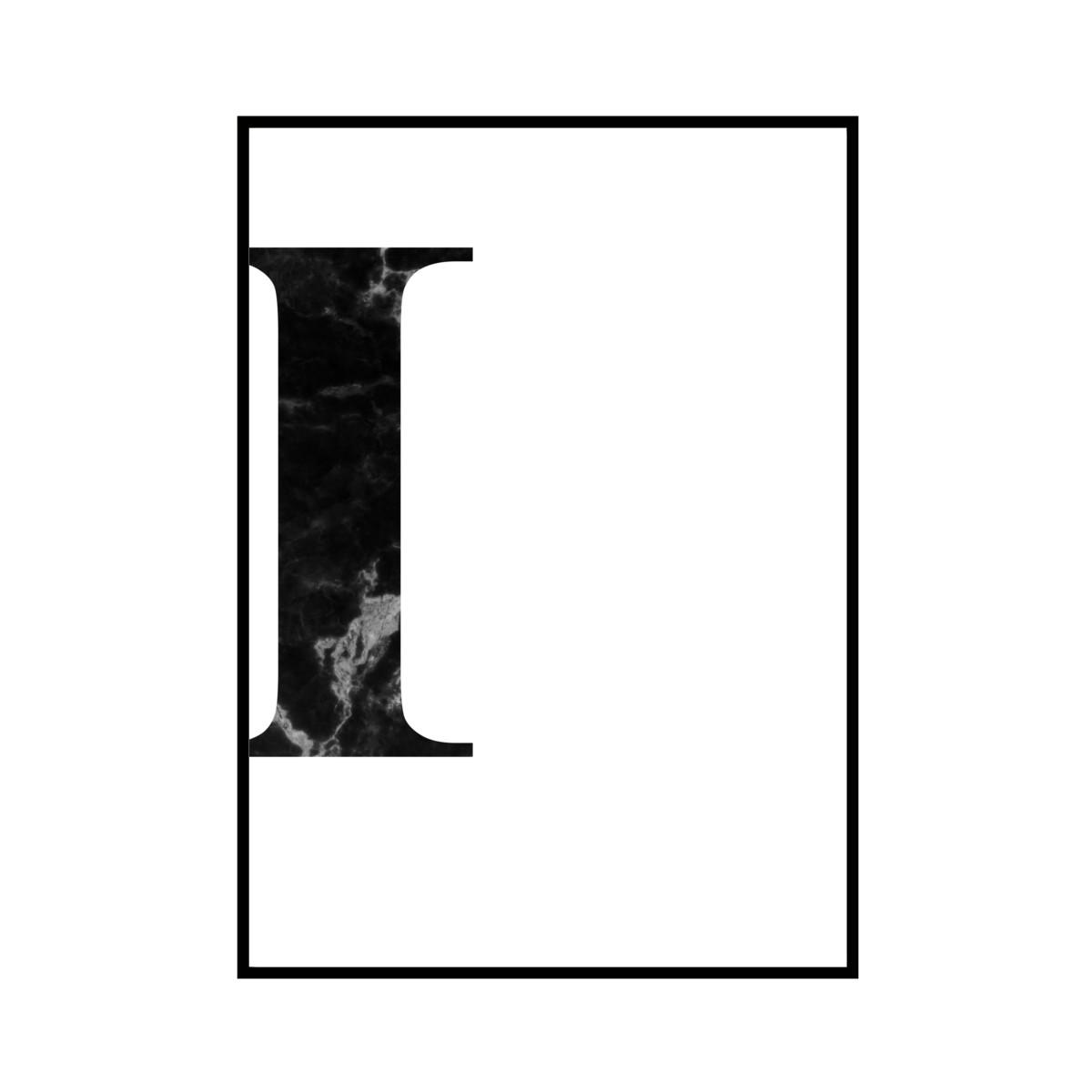 """""""I"""" 黒大理石 - Black marble - ALPHAシリーズ [SD-000510] A1サイズ ポスター単品"""