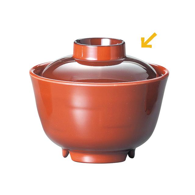 【OGMS-005F】メラミン製 汁碗 蓋(※蓋のみ)Φ9.6cm×H3.4cm