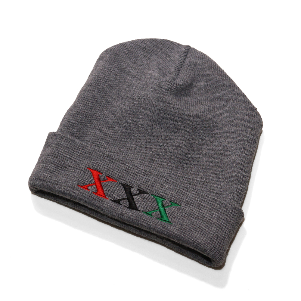 Stay Black Salute XXX BEANIE CAP (GREY)