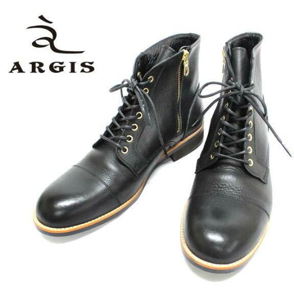 アルジス レザー ブーツ カジュアル メンズ 靴 ARGIS ブラック