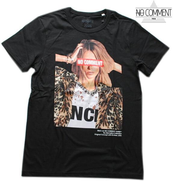 NO COMMENT PARIS ノーコメント パリ Tシャツ 半袖 クルーネック Tシャツ メンズ 正規販売店 LTN217 ブラック