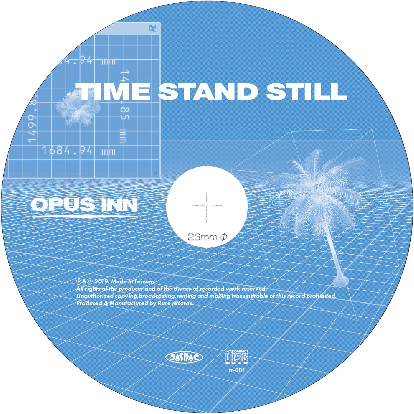 【CD】Opus Inn 3rd EP『Time Stand Still』