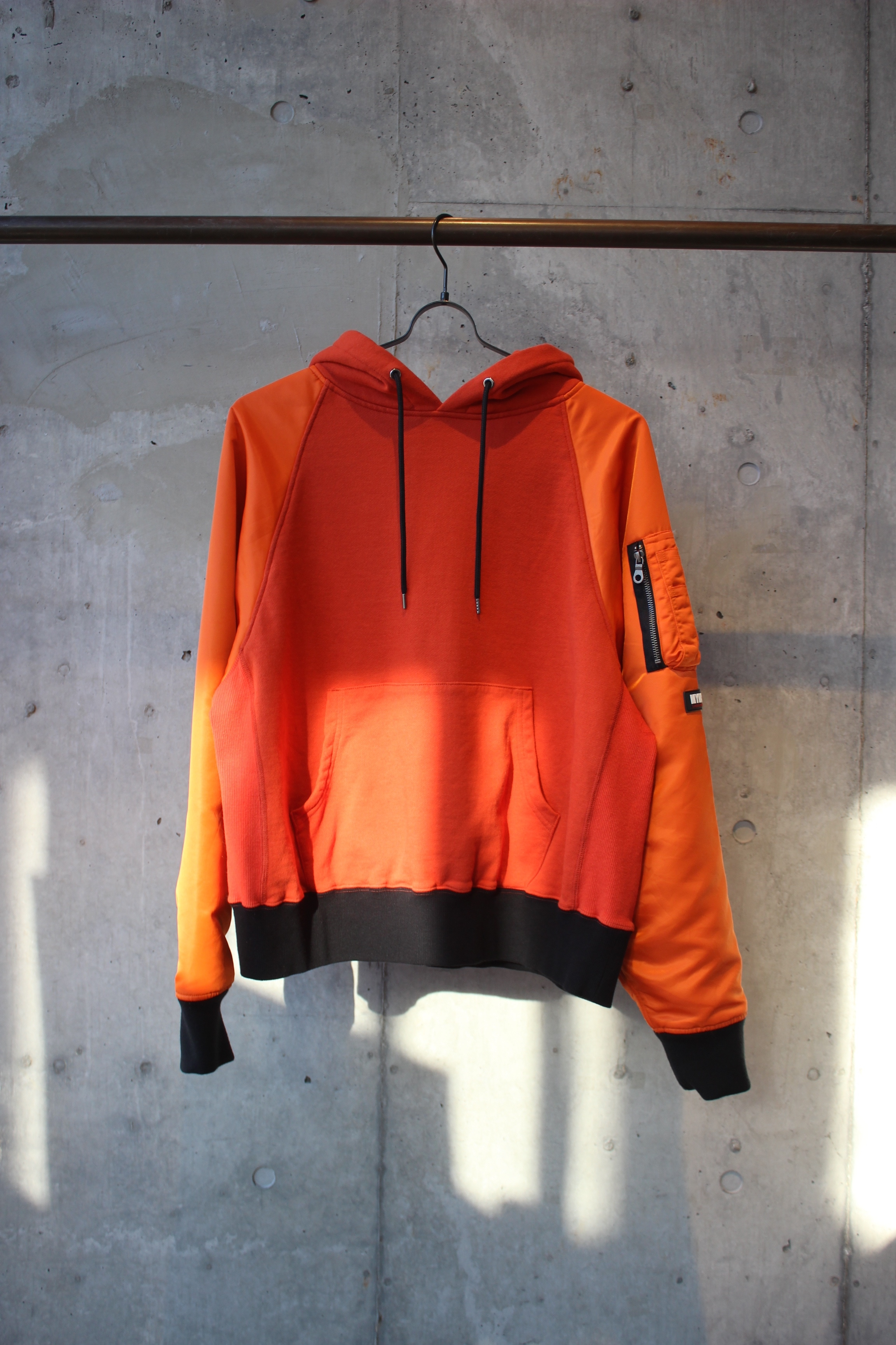 MA-1 hoodie / ORANGE - 画像1