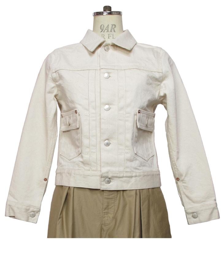 modern jacket type2nd. ecru Lot:00702 - 画像1