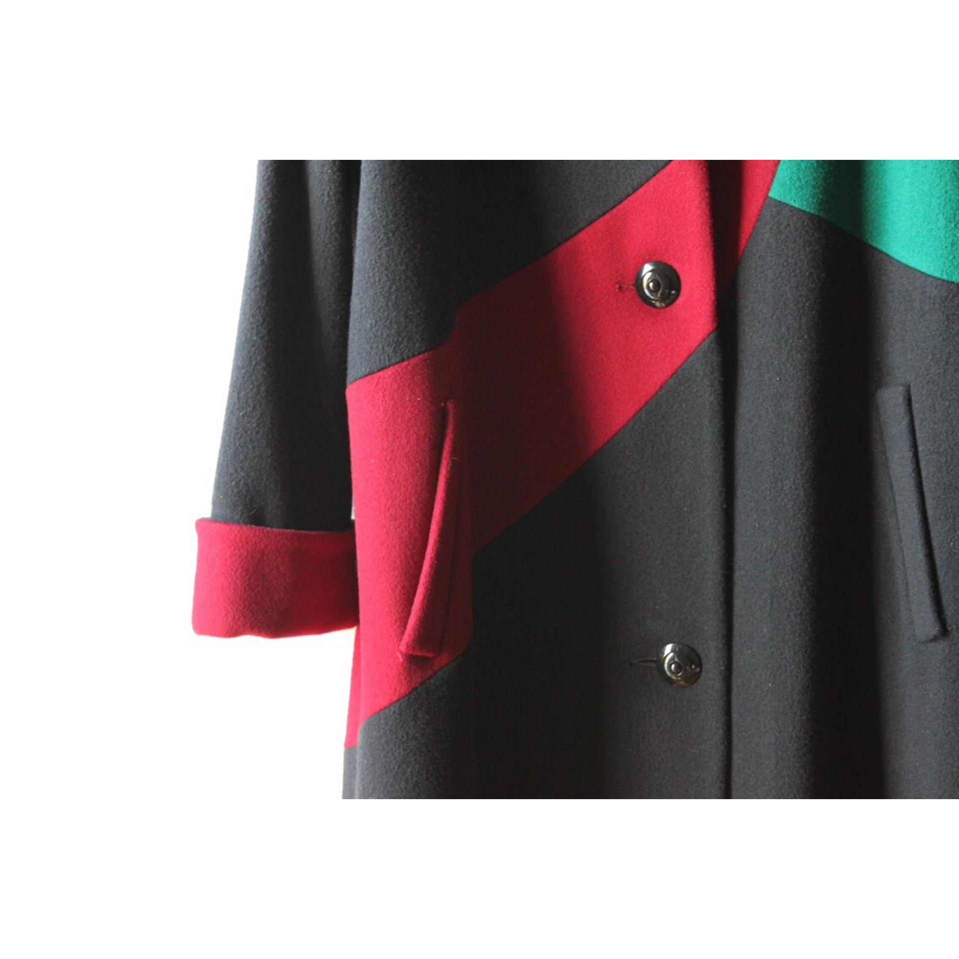 Vintage geometric pattern coat