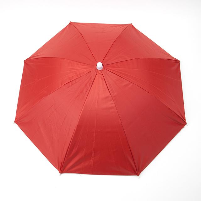 頭にかぶる傘