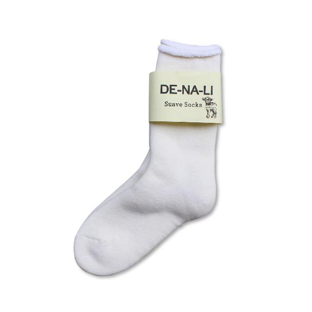 DE-NA-LI × fridge Cashmer Suave Socks / White × White