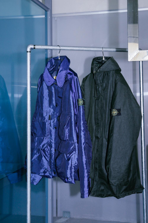 90's Stone Island Blue Nylon Jacket