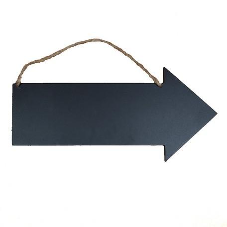型抜きチョークボード(やじるし)[黒色]