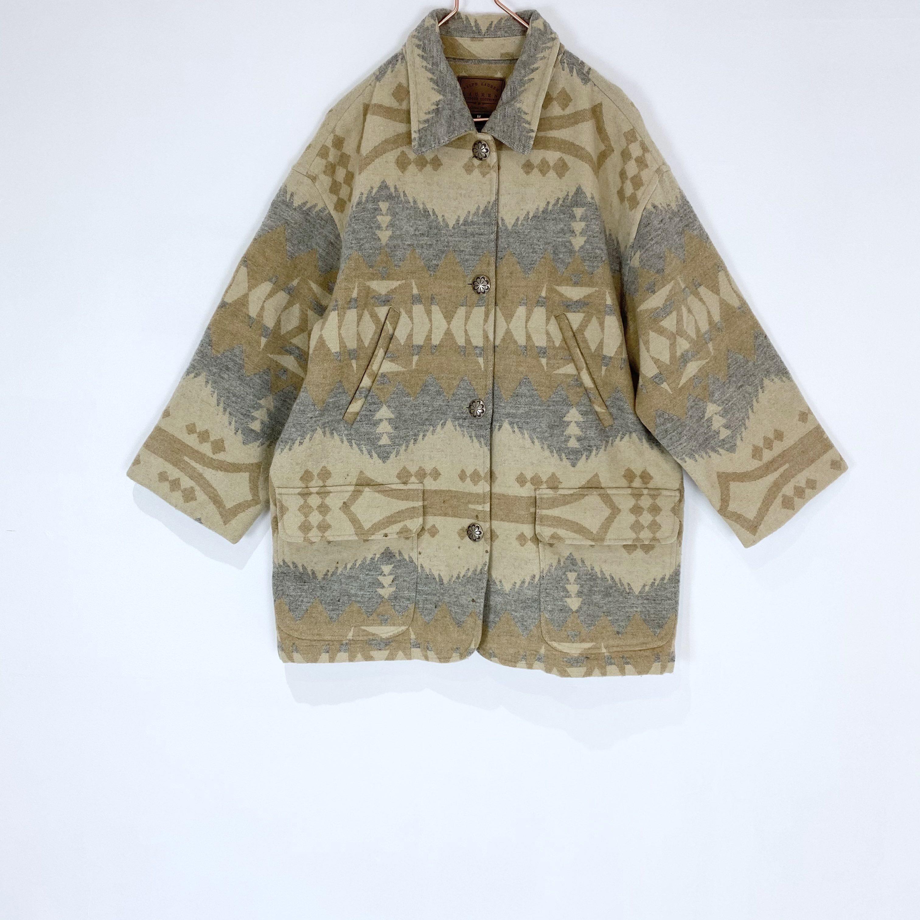 ◼︎00s LAUREN RALPH LAUREN native pattern coat from U.S.A.◼︎