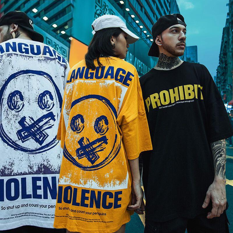 ユニセックス Tシャツ 半袖 メンズ レディース ラウンドネック 英字 バックプリント オーバーサイズ 大きいサイズ ルーズ ストリート