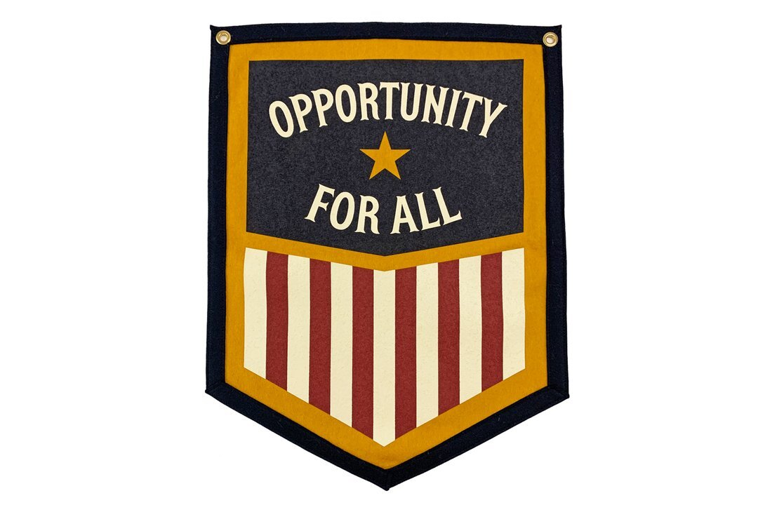 OPPORTUNITY FOR ALL Camp Flag