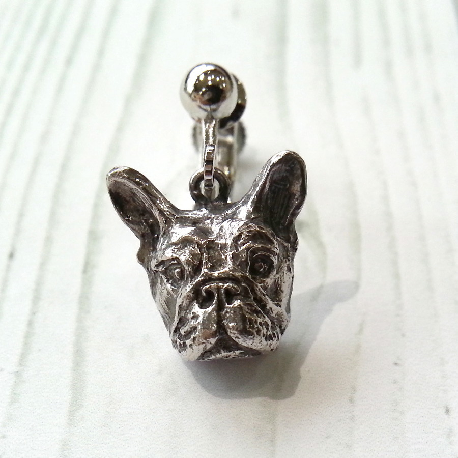 フレブル(Sサイズ)silver925 & イヤリング・真鍮生地ロジウムカラー(ペア)