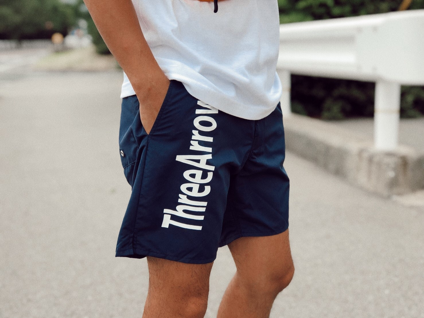 ThreeArrows logo Board Shorts(navy)