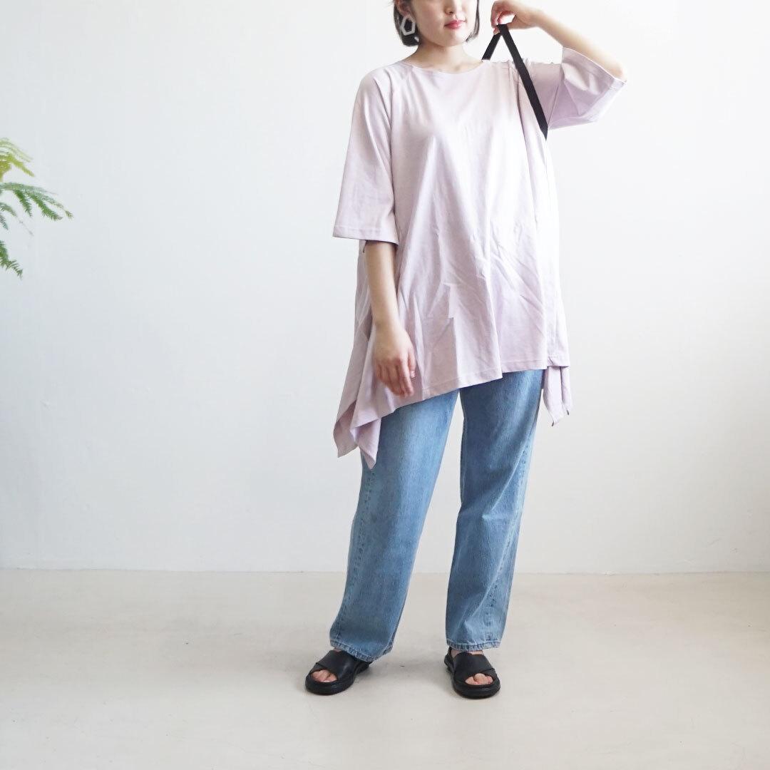 kiino. キイノ シルケット天竺ワイドヘムラインチュニック (品番k-018)