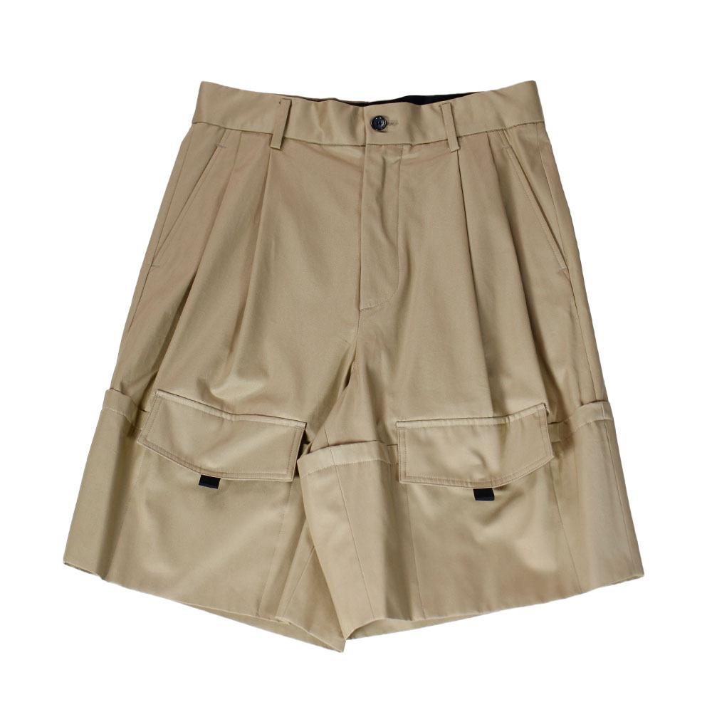 YUKI HASHIMOTO Roll-up Pockets Shorts Beige