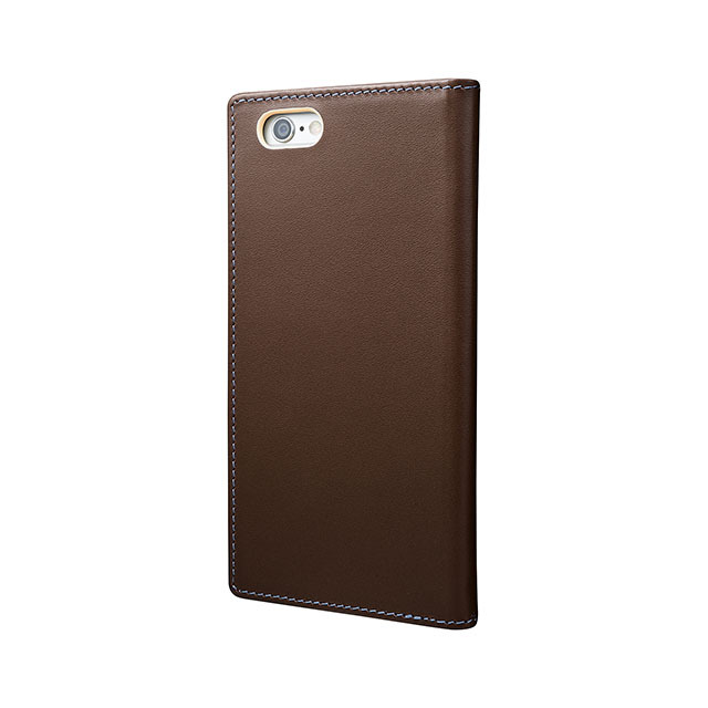 GRAMAS Full Leather Case スマホ堂 Limited for iPhone6s/6 Brown×Cream×Light Blue - 画像3