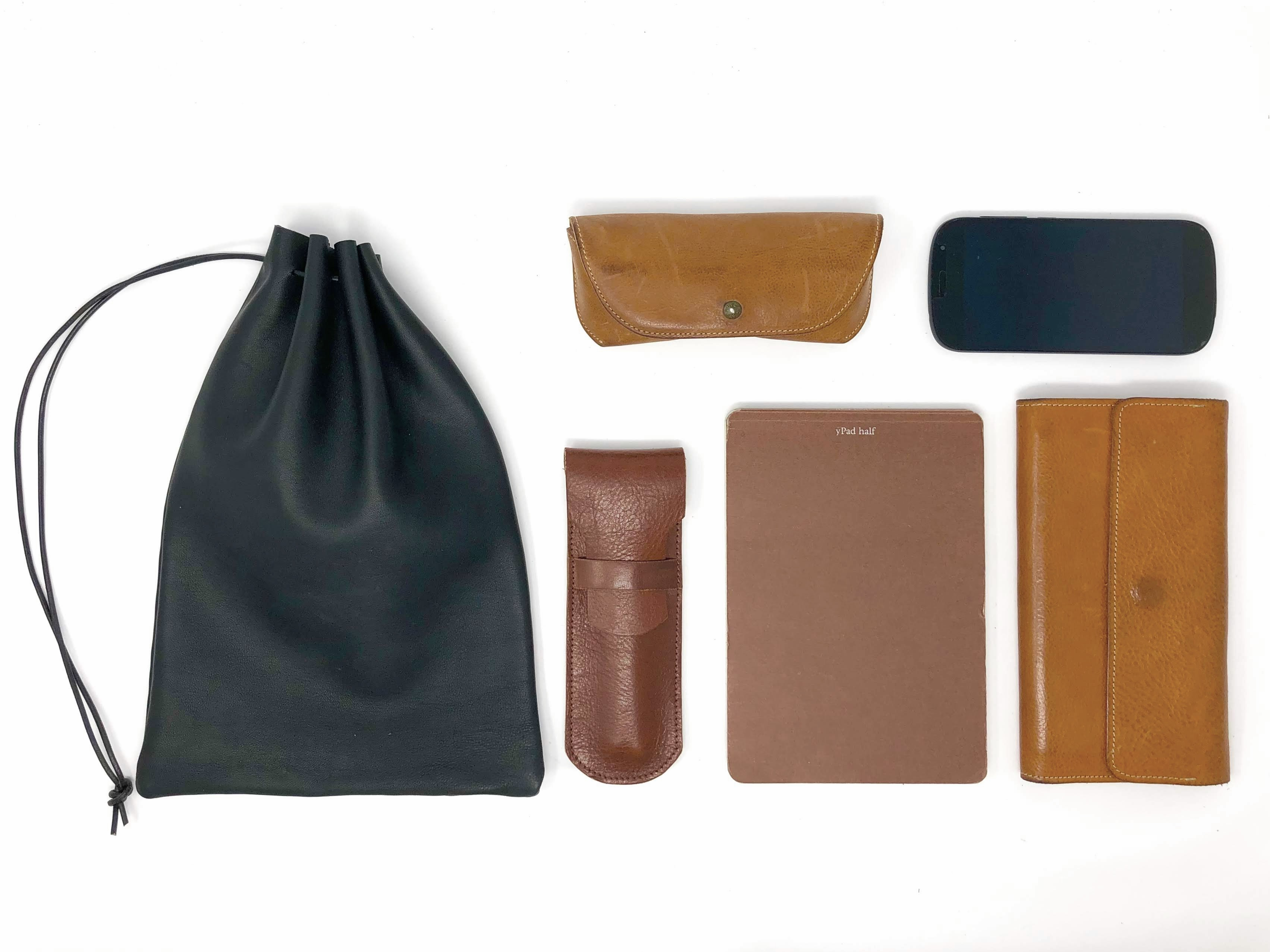 Utility Bag レザー巾着 - 画像3