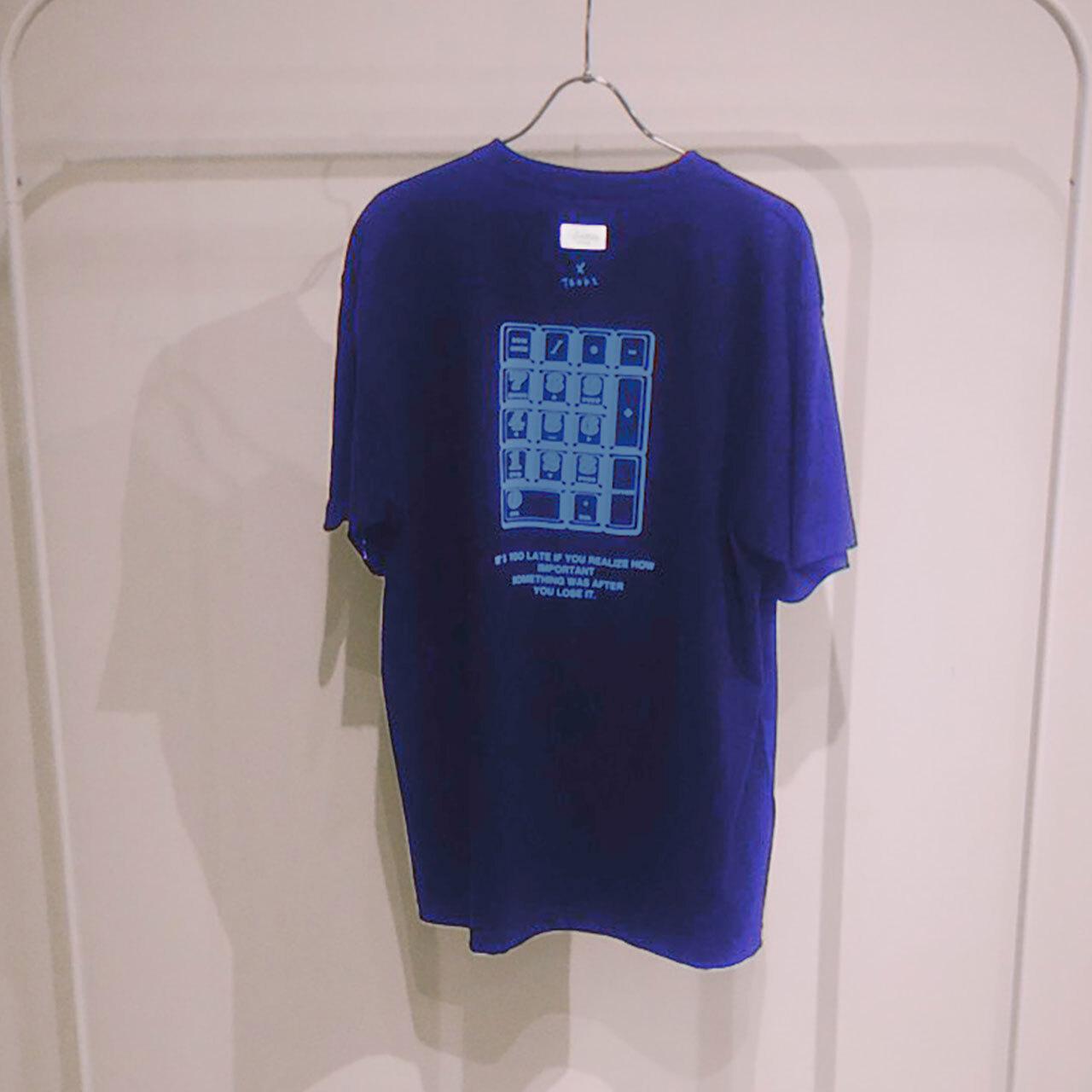 TENKI × A Man Collaboration Tee Purple × Light blue