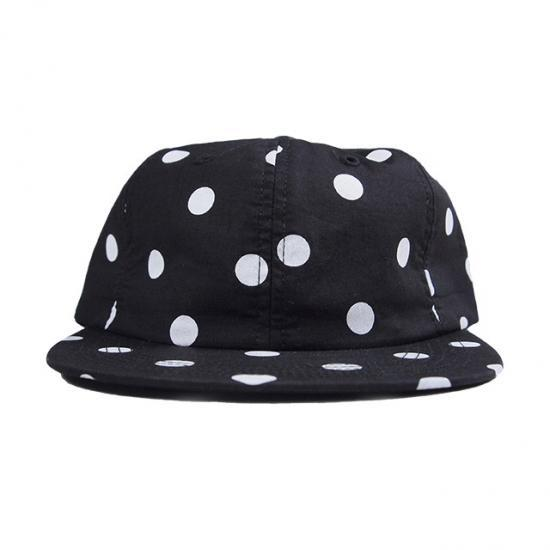 HUF ハフ DOTS 6 PANEL CAP BLACK