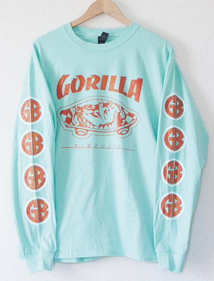 【GORILLA BISCUITS】Queen Style Long Sleeve (Mint)
