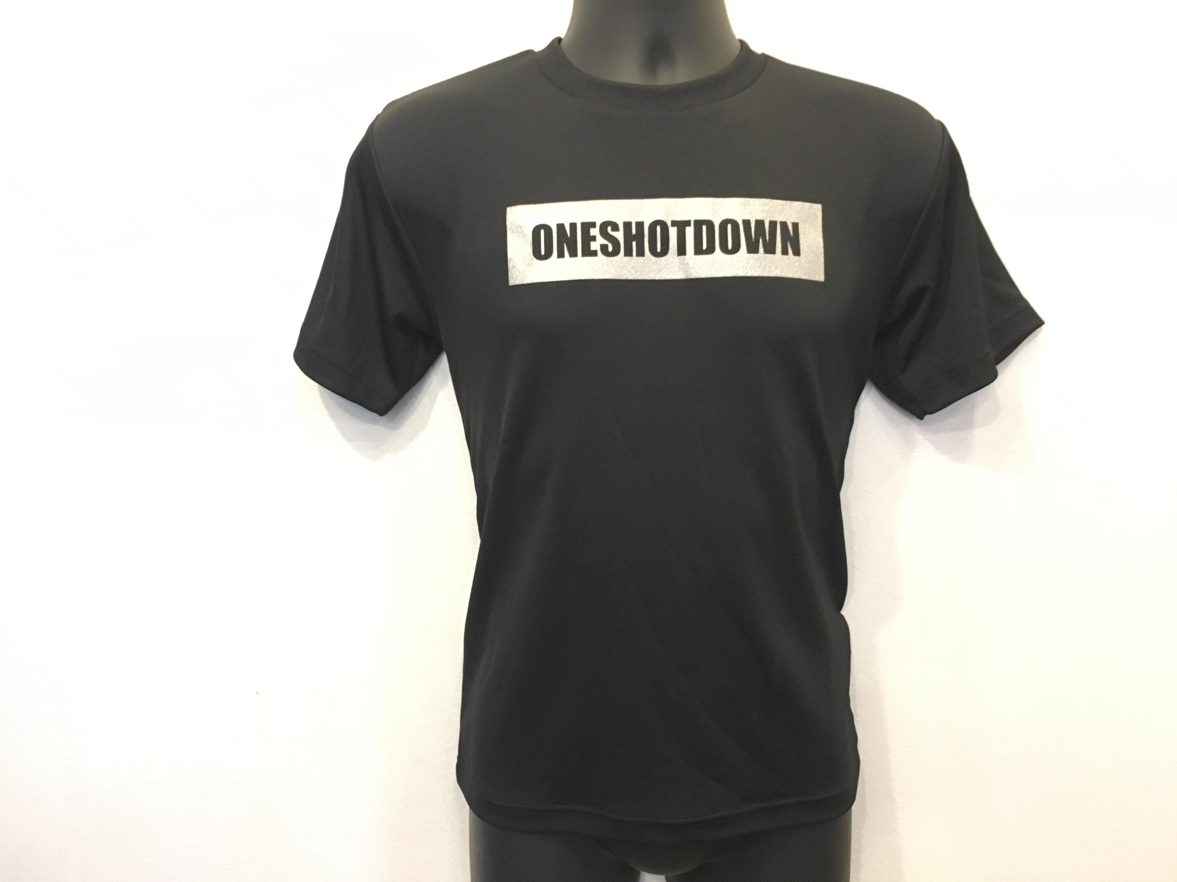 ONESHOTDOWN ボックスロゴ ドライTシャツ - 画像3