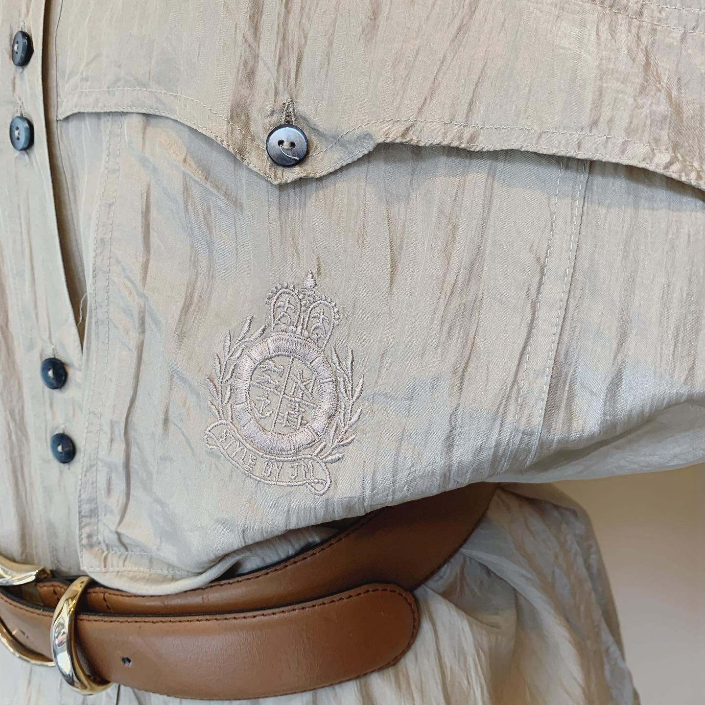 vintage dolman design silk shirts