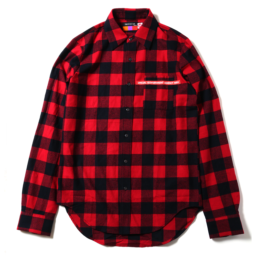 NEW ONLY SUMMER FLANNEL CHECK SHIRTS (レッド) / RADIO EVA