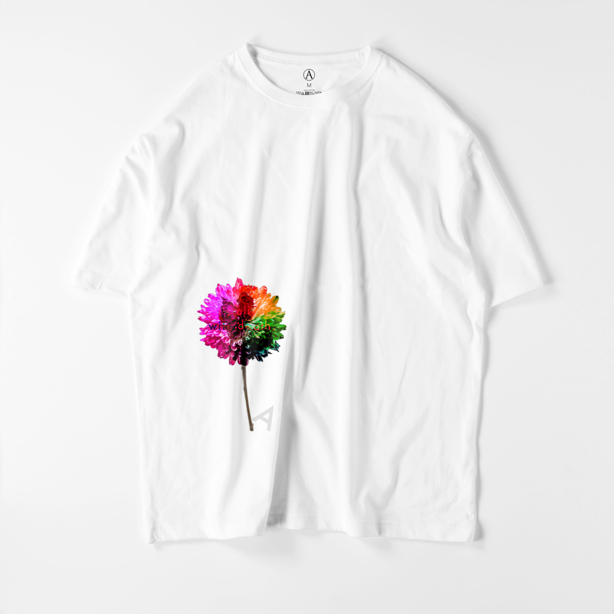 Flower-red ビッグシルエットTシャツ ホワイト / Mens