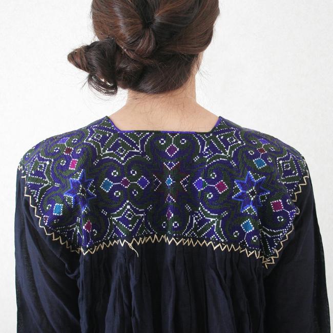 刺繍ロングワンピース /266a/ MEXICO メキシコ