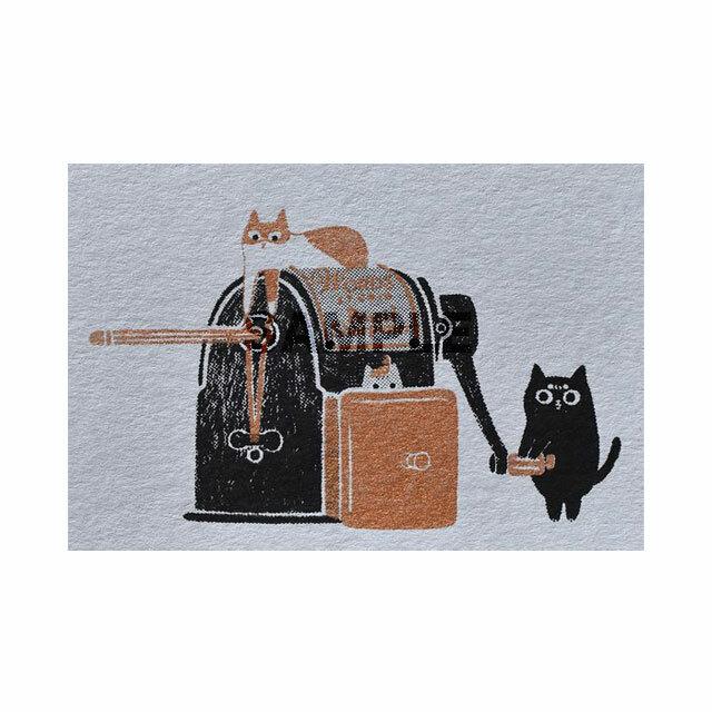 台湾 手刷りポストカード 古い鉛筆削り