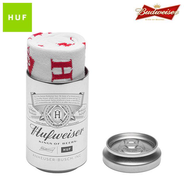 HUF X BUDWEISER BOW CREW SOCKS WHITE
