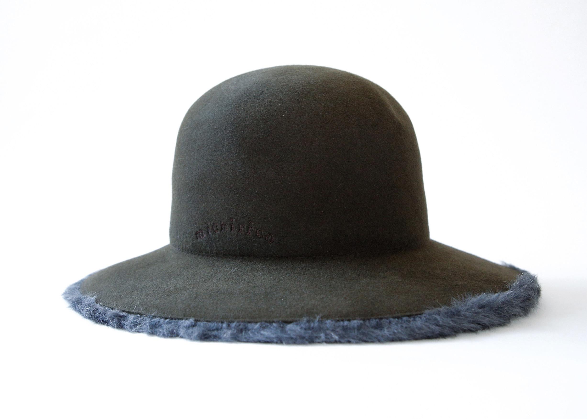 《michirico 2020AW》Antelope hat / darkgreen / F(womens)