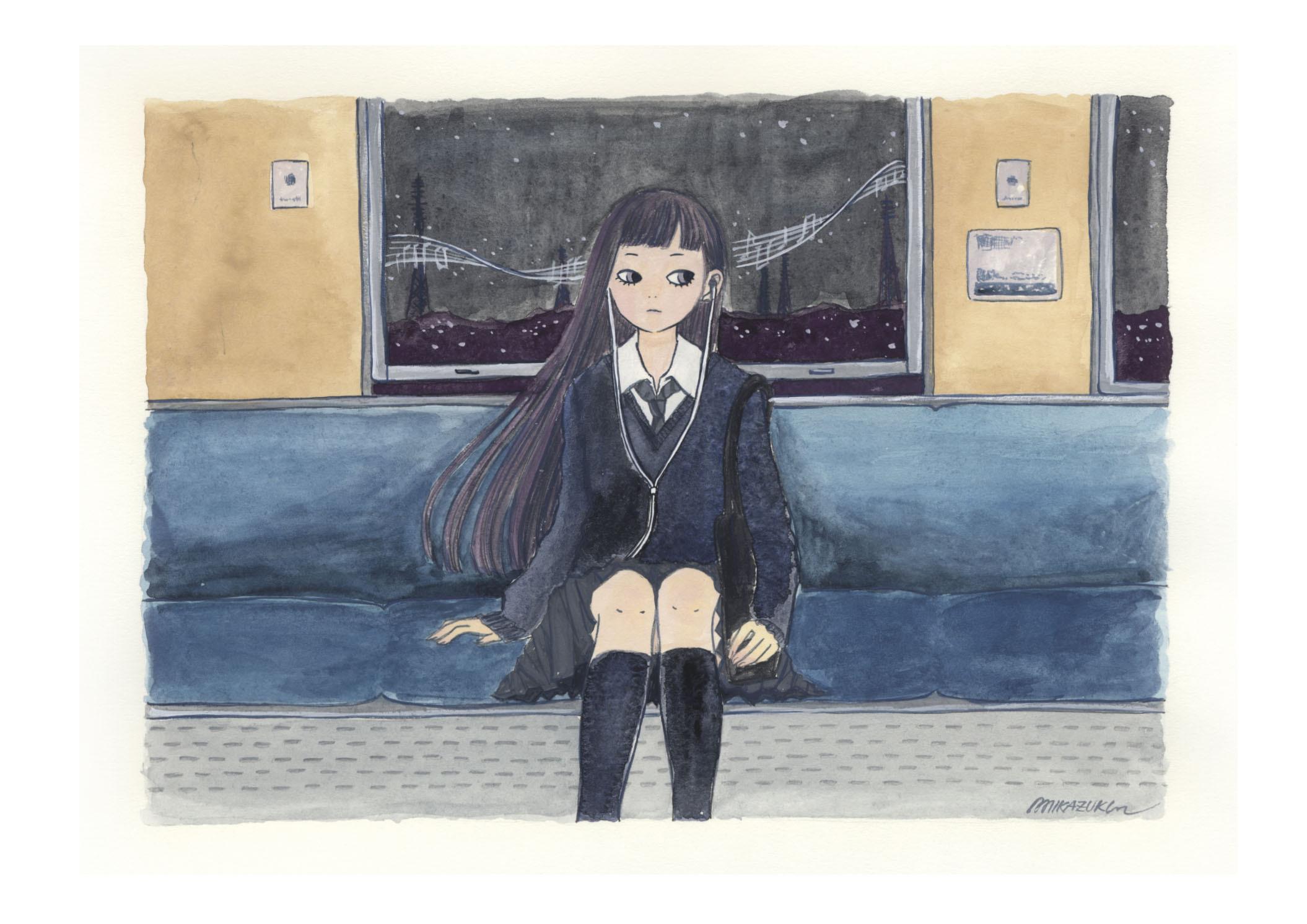 MIKAZUKI / ミカヅキ ミニポスター A4サイズ 「Night train music」