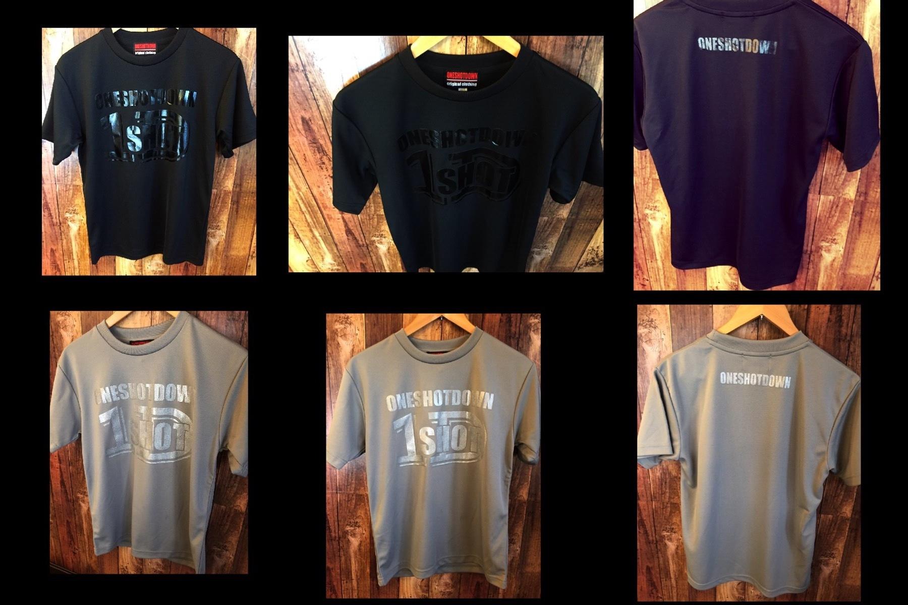ONESHOTDOWN ロゴ ドライTシャツ - 画像5