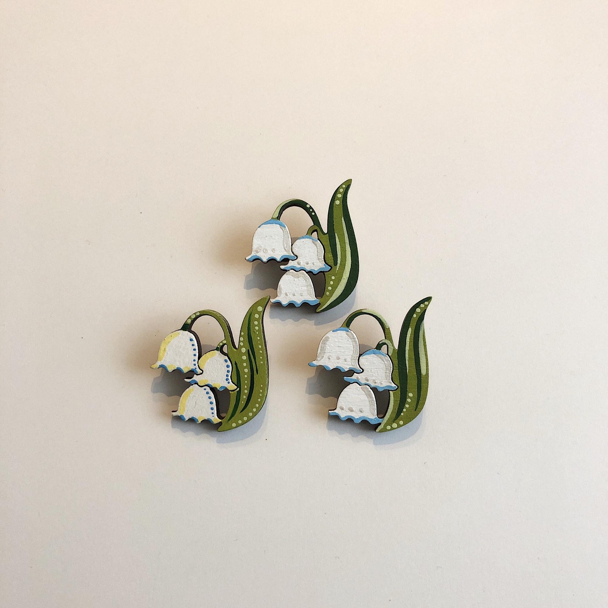 樺の木ブローチ【すずらん】
