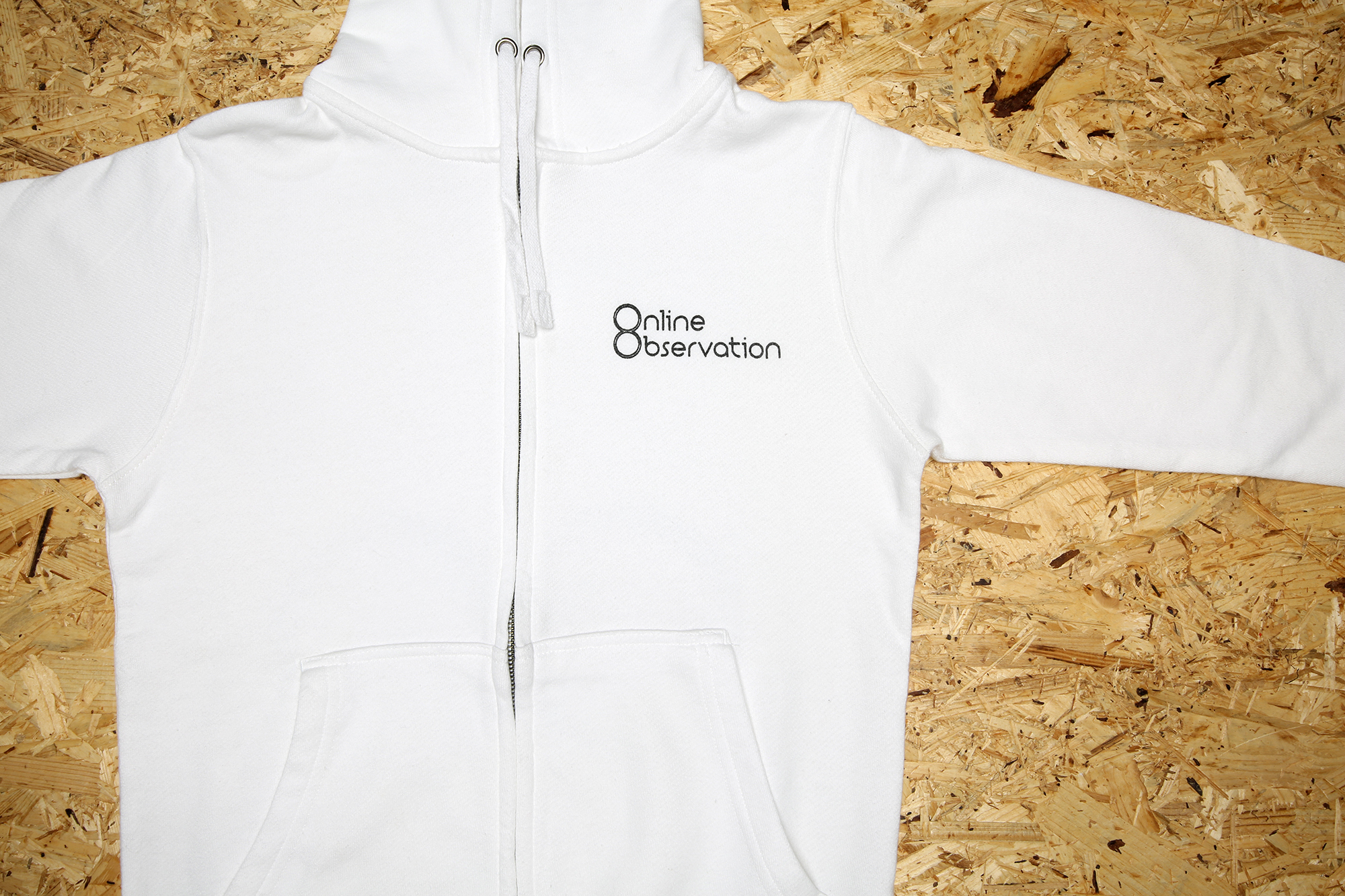 Logo Zip-up hoodie White / ロゴ・フーディ
