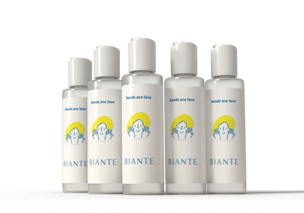 BIANTE 【医薬指定部外品】日本製アルコール消毒ハンドジェルEL70ml 速乾性のあるユーカリの香り 5本セット